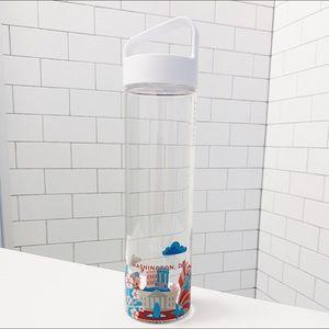 🆕 Starbucks Glass Water Bottle YAH Washington DC